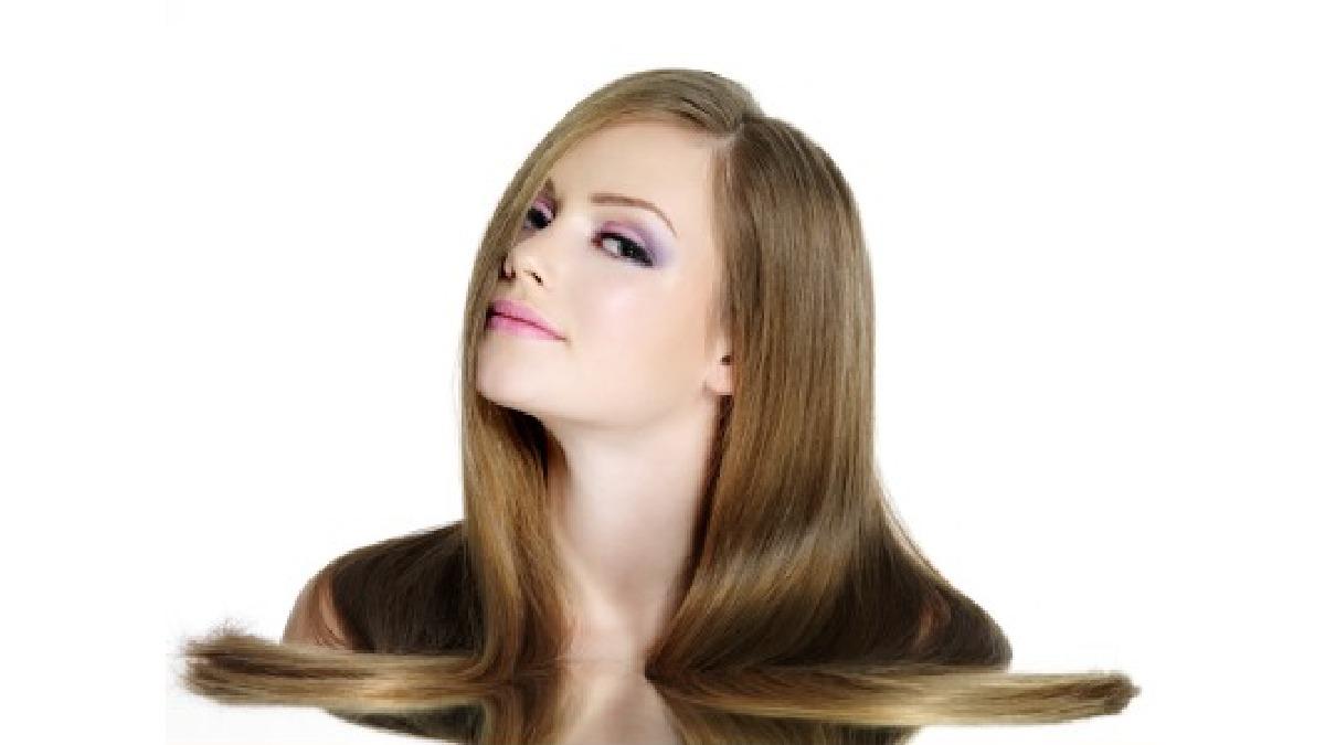 Wyprostowane włosy
